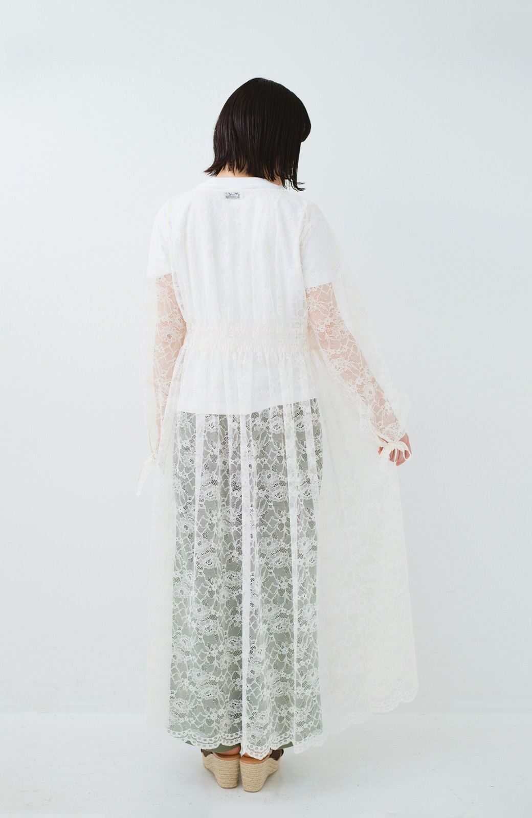 haco! KANA MATSUNAMI Lacy Maxi Dress <ホワイト>の商品写真16