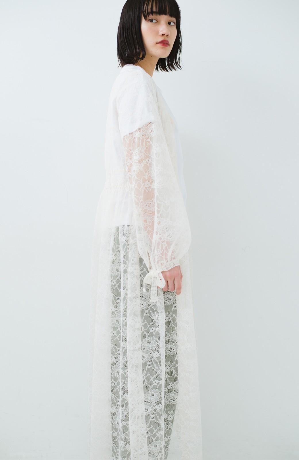 haco! KANA MATSUNAMI Lacy Maxi Dress <ホワイト>の商品写真17