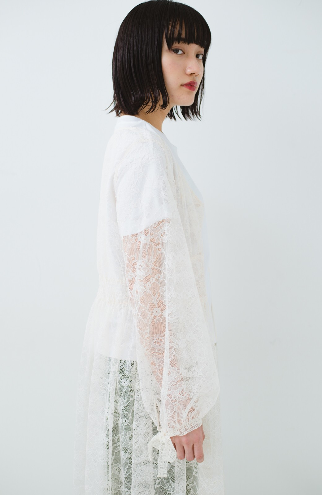 haco! KANA MATSUNAMI Lacy Maxi Dress <ホワイト>の商品写真18