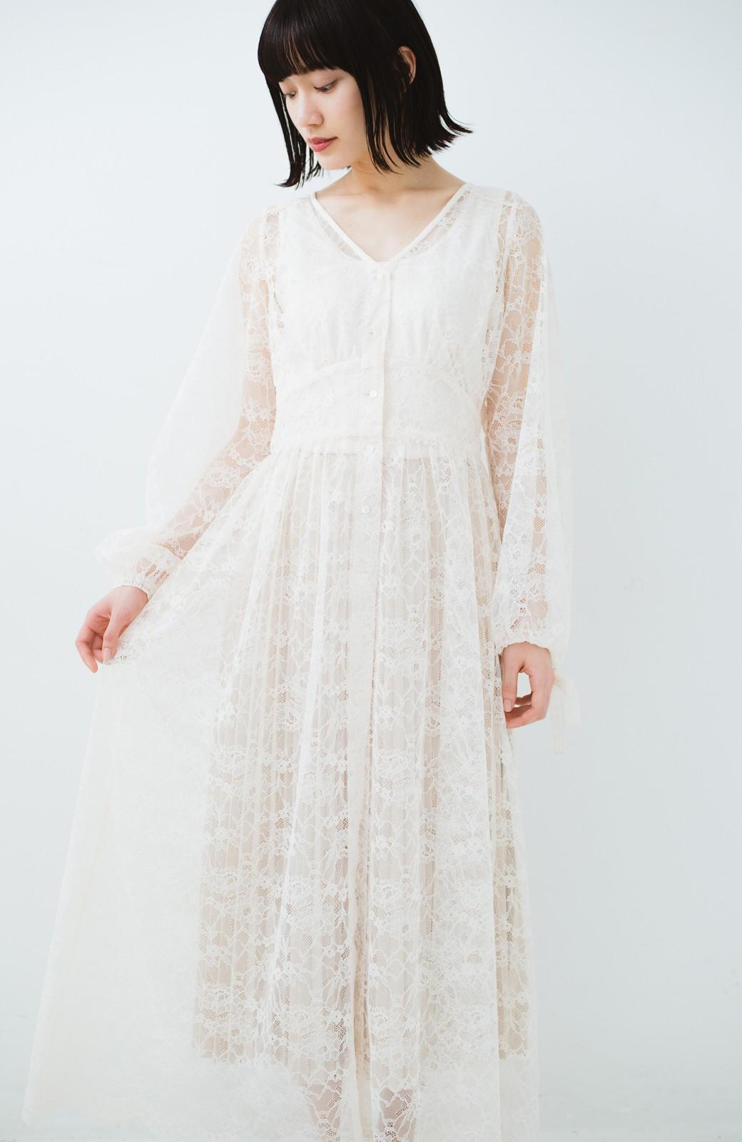 haco! KANA MATSUNAMI Lacy Maxi Dress <ホワイト>の商品写真1