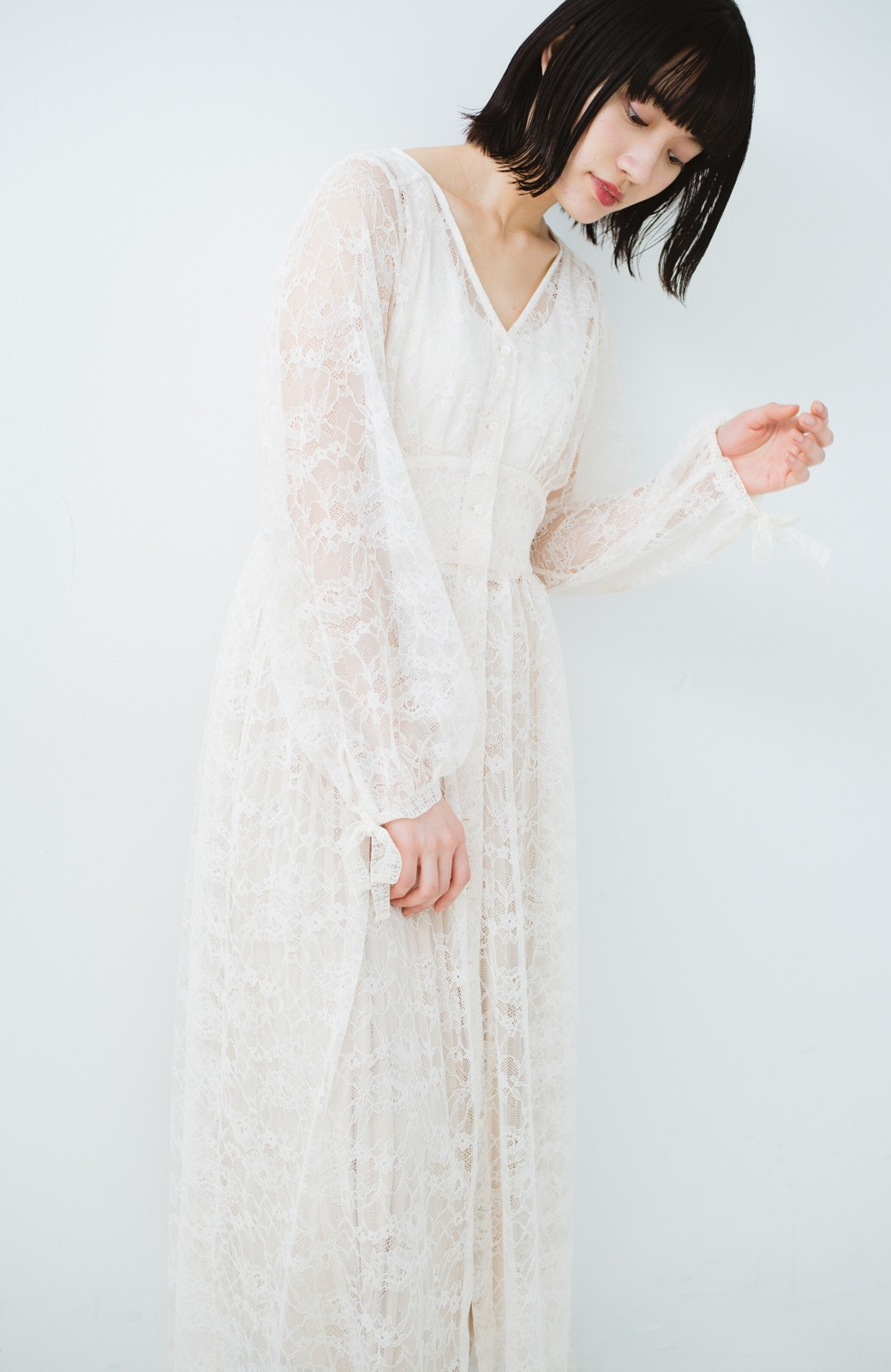 haco! KANA MATSUNAMI Lacy Maxi Dress <ホワイト>の商品写真19