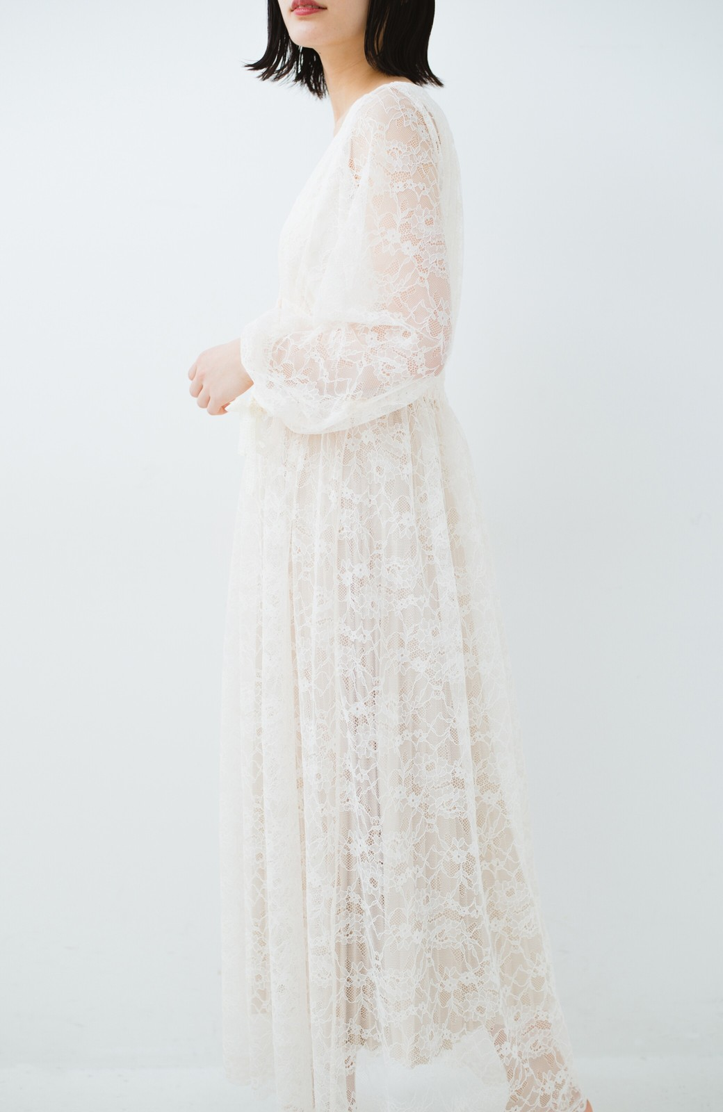 haco! KANA MATSUNAMI Lacy Maxi Dress <ホワイト>の商品写真20