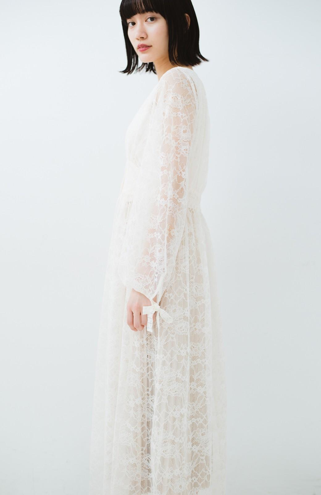haco! KANA MATSUNAMI Lacy Maxi Dress <ホワイト>の商品写真21