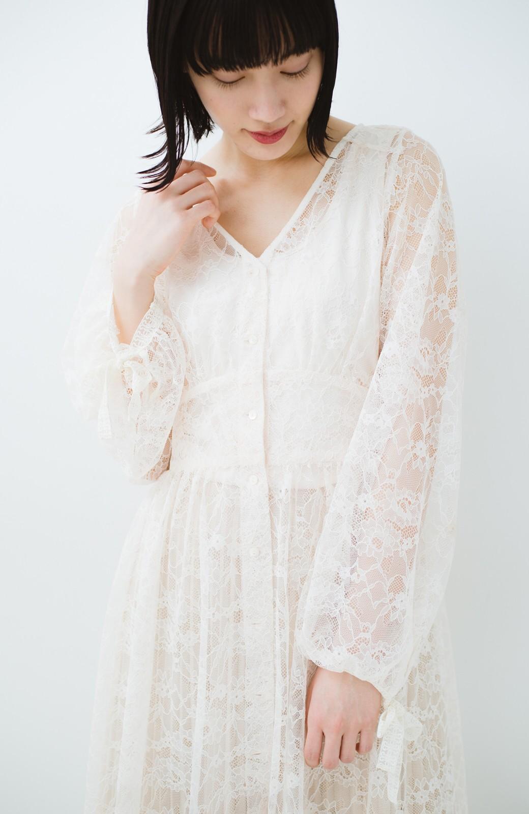 haco! KANA MATSUNAMI Lacy Maxi Dress <ホワイト>の商品写真22