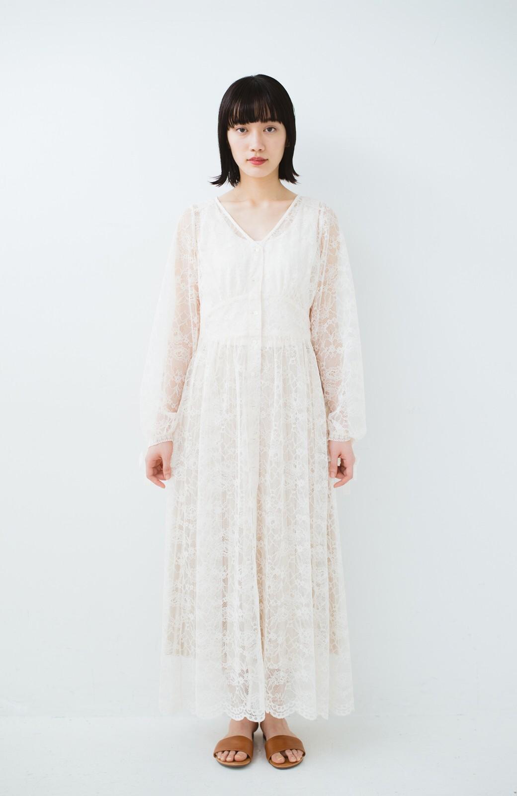 haco! KANA MATSUNAMI Lacy Maxi Dress <ホワイト>の商品写真12
