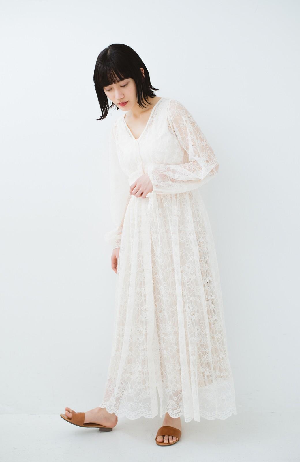 haco! KANA MATSUNAMI Lacy Maxi Dress <ホワイト>の商品写真13