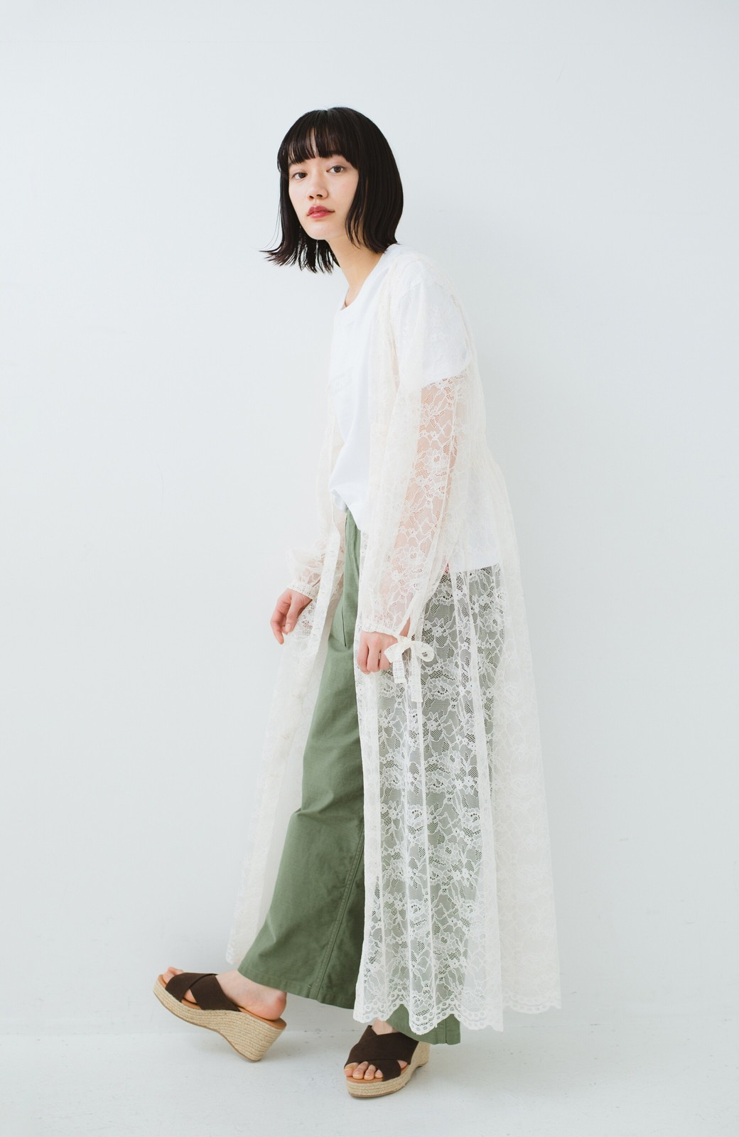 haco! KANA MATSUNAMI Lacy Maxi Dress <ホワイト>の商品写真14