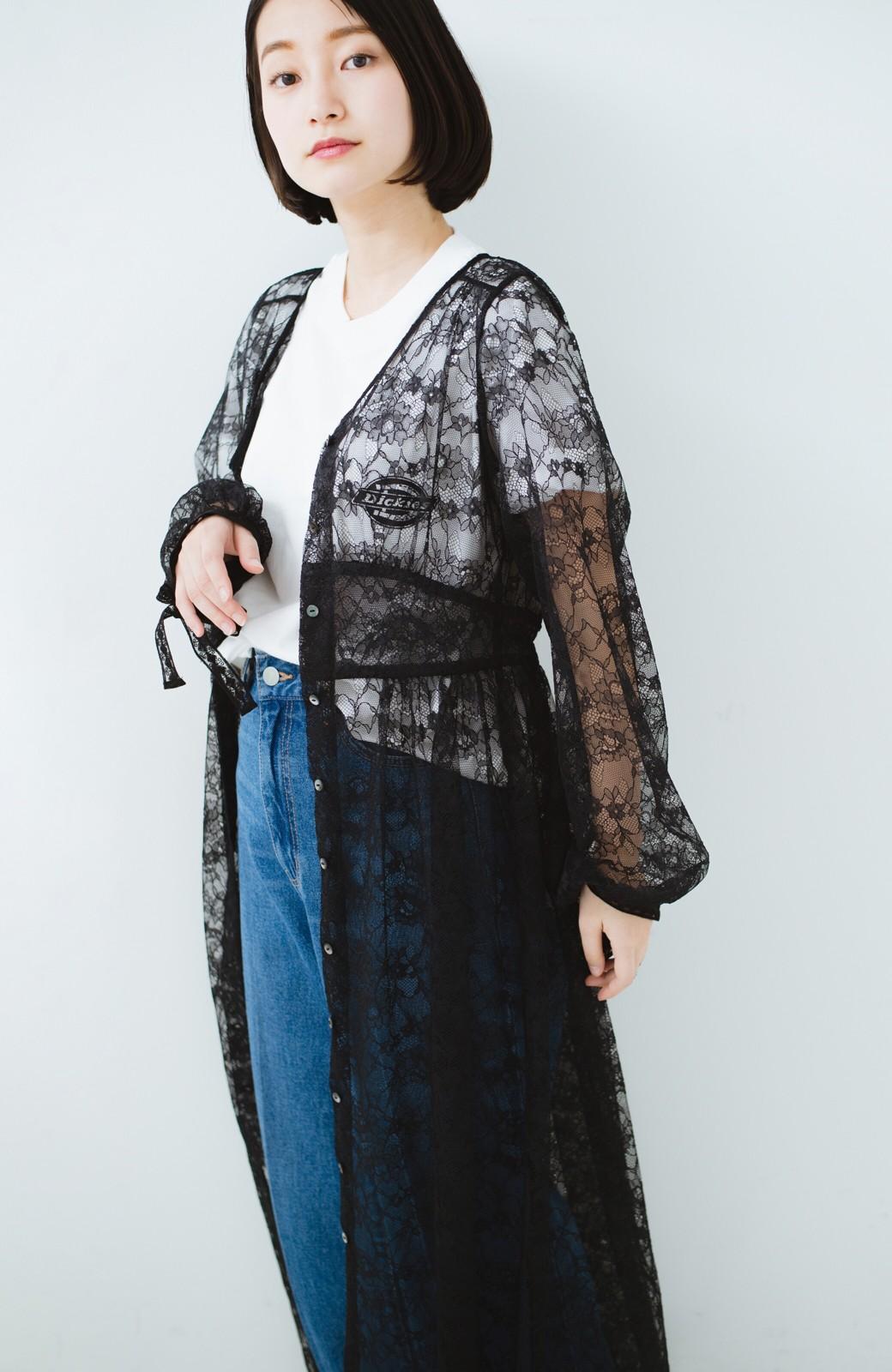haco! KANA MATSUNAMI Lacy Maxi Dress <ブラック>の商品写真2