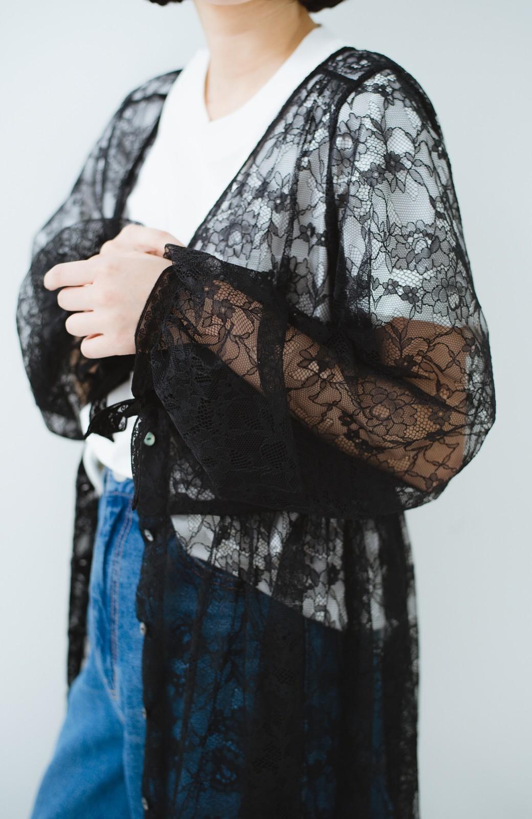 haco! KANA MATSUNAMI Lacy Maxi Dress <ブラック>の商品写真3