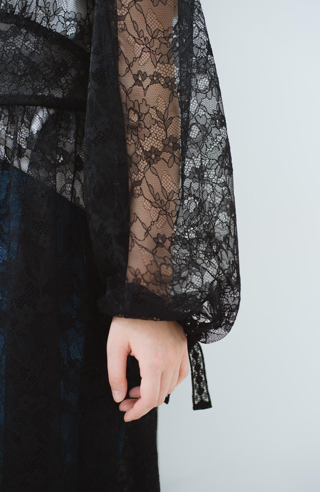 haco! KANA MATSUNAMI Lacy Maxi Dress <ブラック>の商品写真4