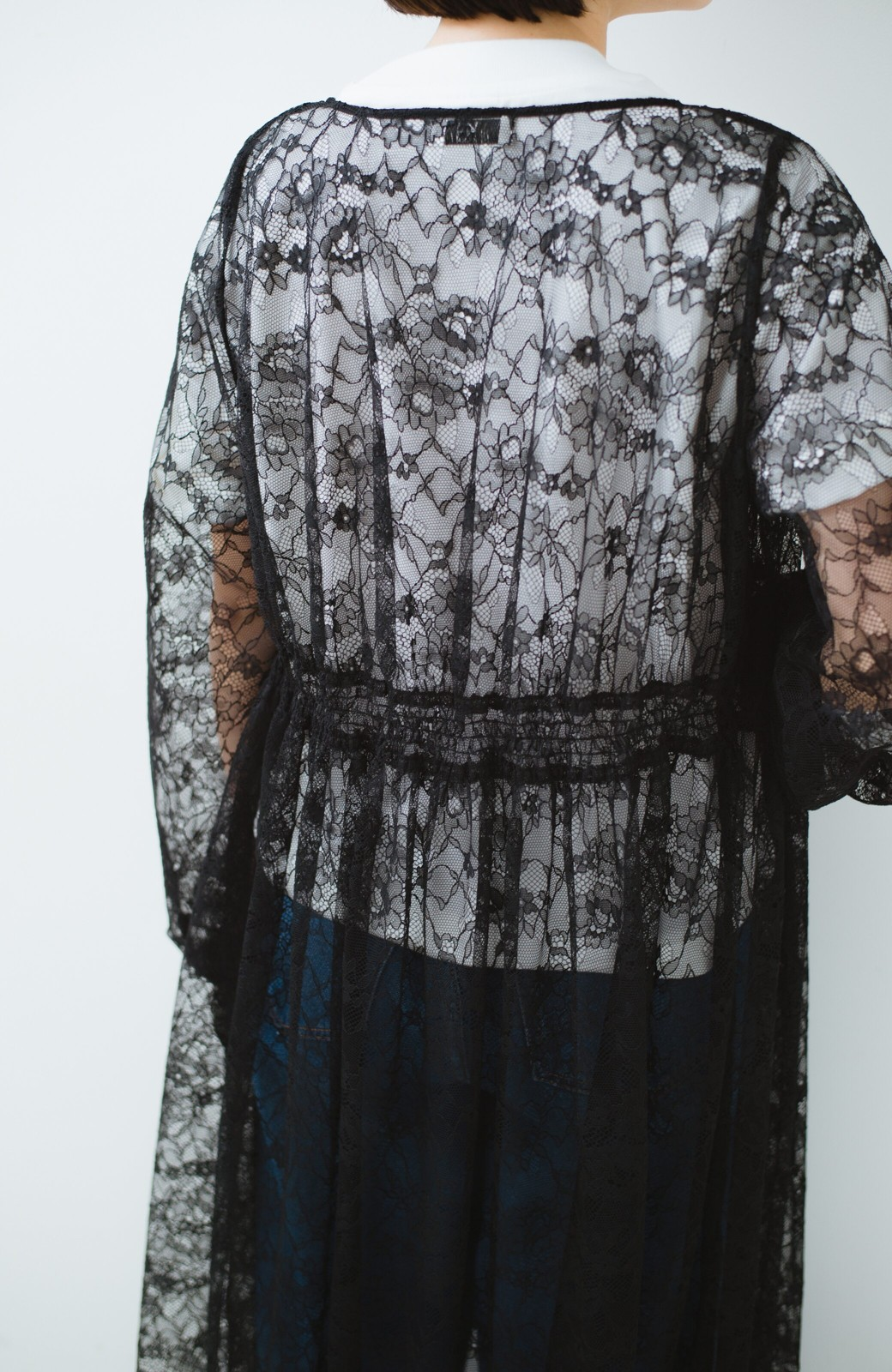 haco! KANA MATSUNAMI Lacy Maxi Dress <ブラック>の商品写真5