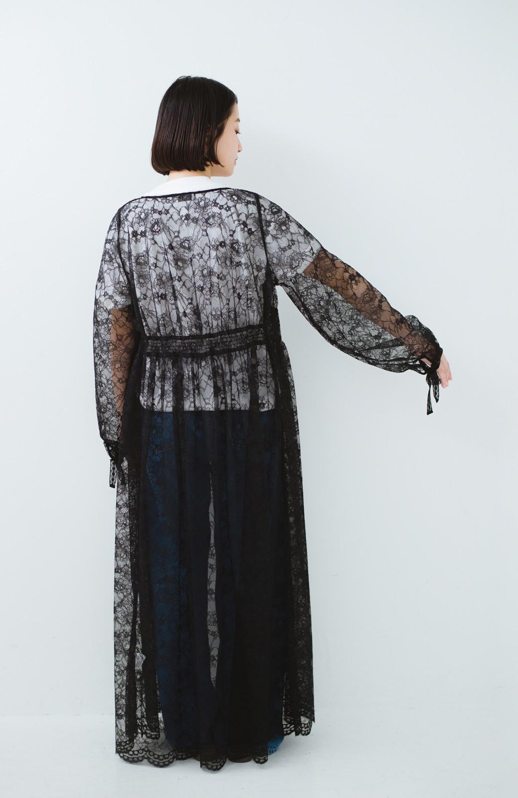 haco! KANA MATSUNAMI Lacy Maxi Dress <ブラック>の商品写真12
