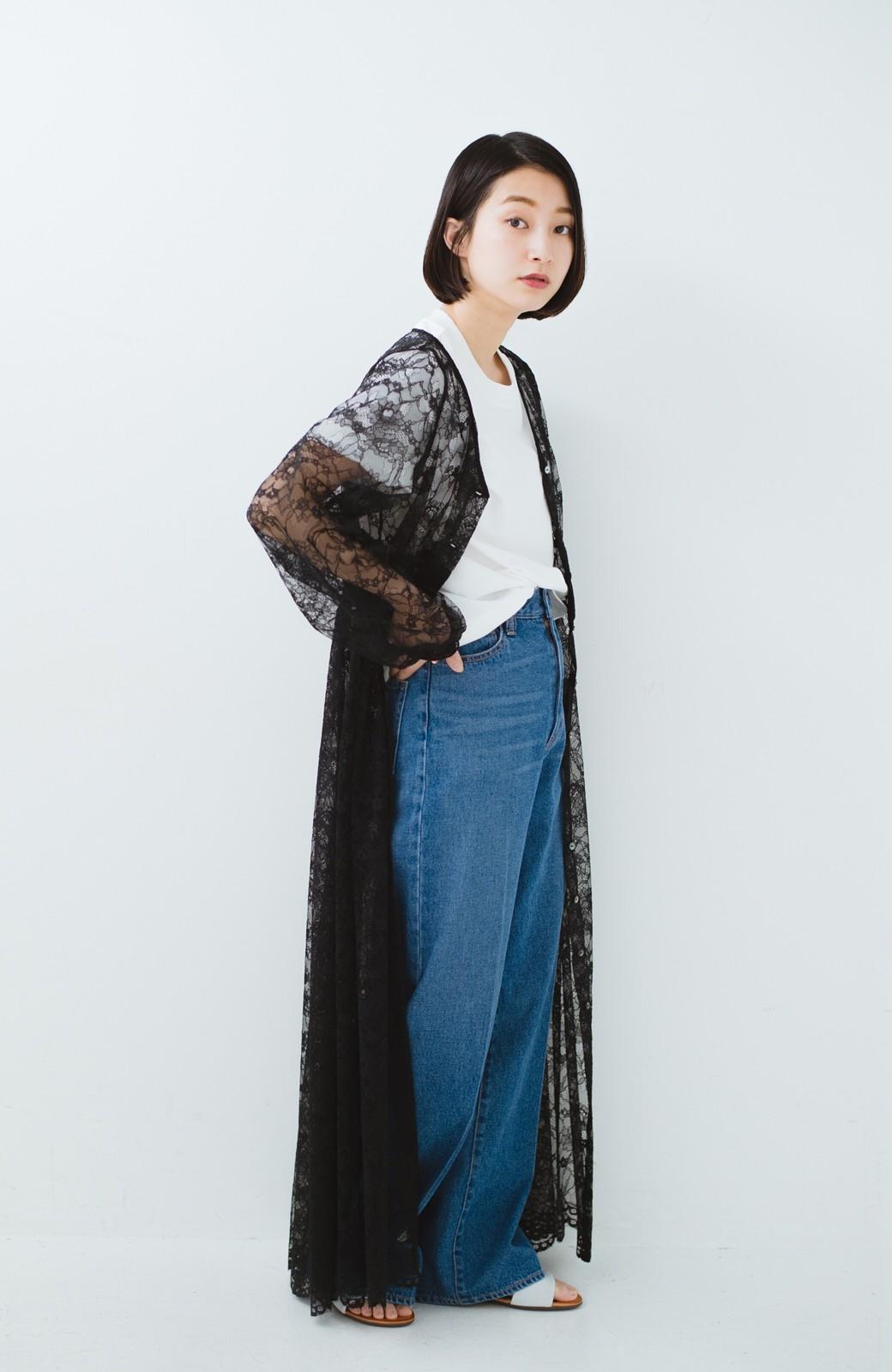 haco! KANA MATSUNAMI Lacy Maxi Dress <ブラック>の商品写真9