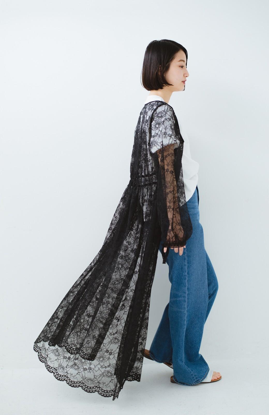 haco! KANA MATSUNAMI Lacy Maxi Dress <ブラック>の商品写真11