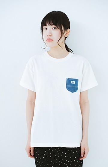 haco! Lady Lee デニムポケットTシャツ <ホワイト>の商品写真