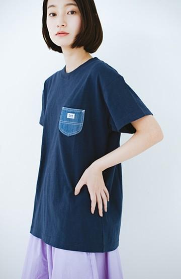 haco! Lady Lee デニムポケットTシャツ <ネイビー>の商品写真