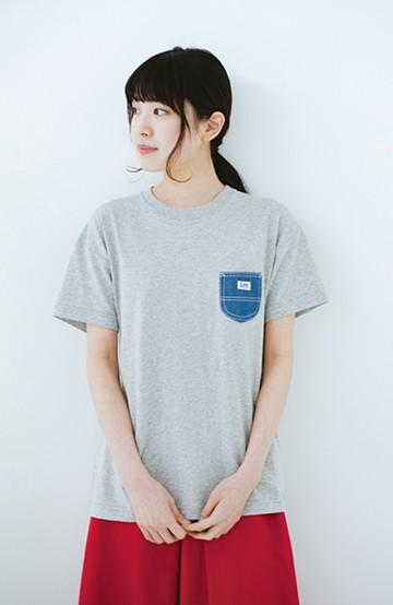 haco! Lady Lee デニムポケットTシャツ <グレー>の商品写真