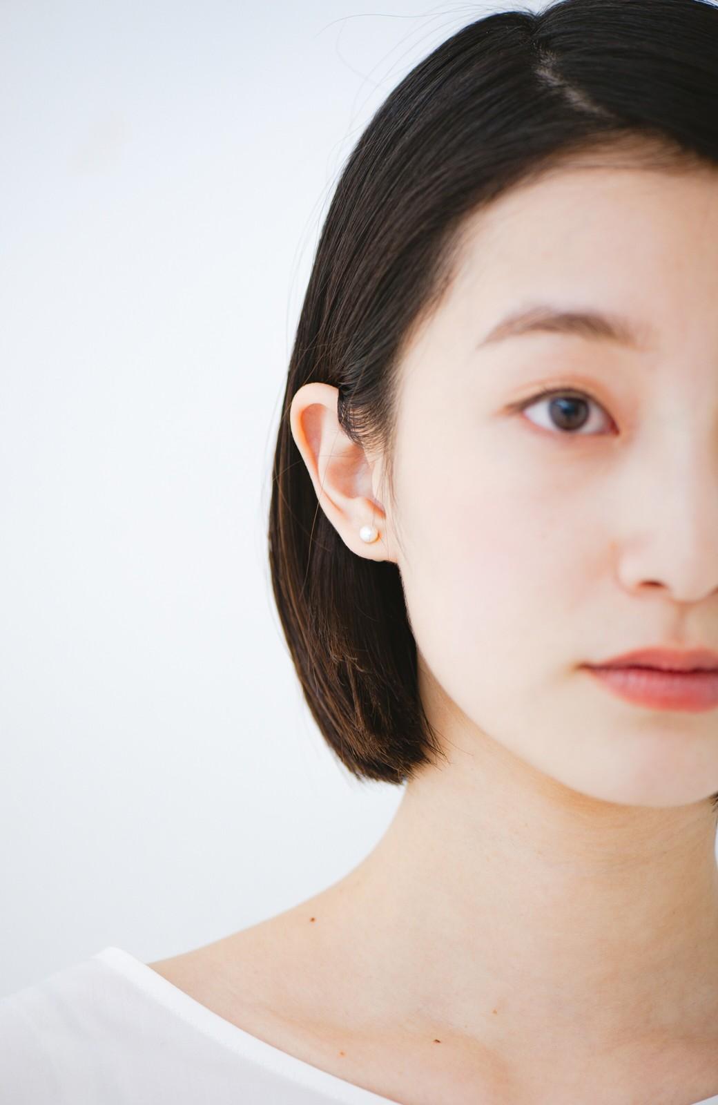 haco! てとひとて KANA MATSUNAMI チャリティー企画 Hanging glass dome 2wayピアス <ゴールド>の商品写真6