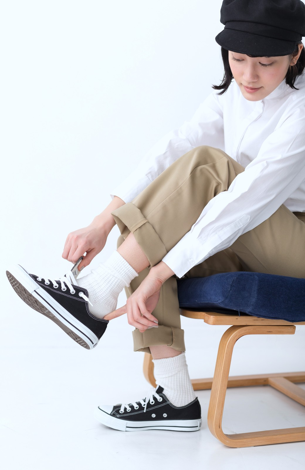 haco! CONVERSE キャンバス オールスターOX <ブラック>の商品写真9