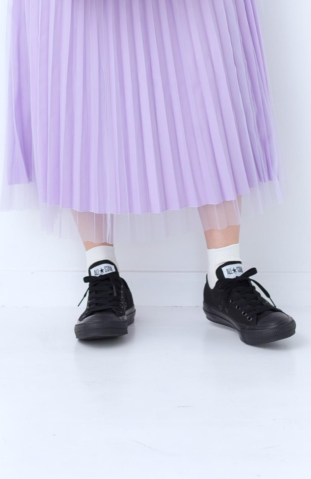 haco! CONVERSE キャンバス オールスターOX <ブラック×ブラック>の商品写真4