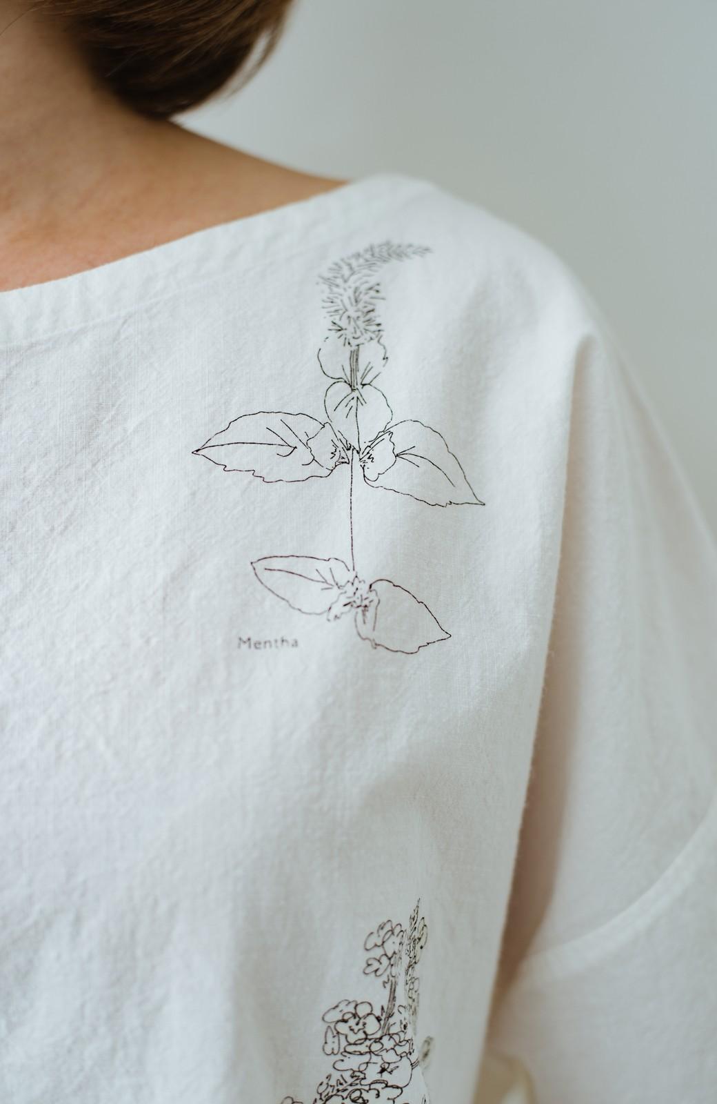 haco! てとひとて Miho Umezawa ガーデンハーブドルマンチュニック <オフホワイト>の商品写真6