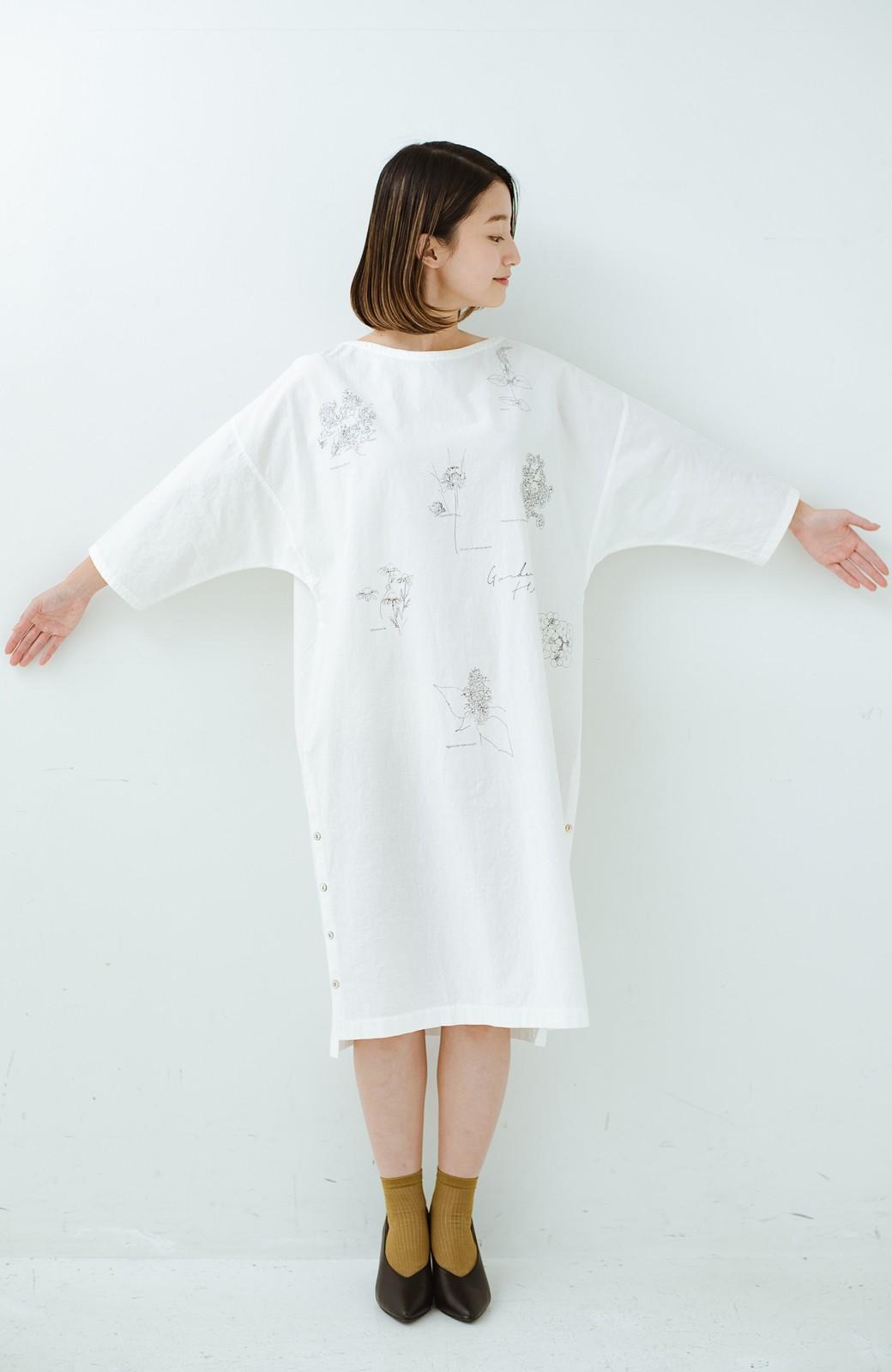 haco! てとひとて Miho Umezawa ガーデンハーブドルマンチュニック <オフホワイト>の商品写真1