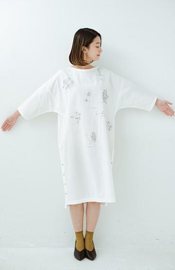 haco! てとひとて Miho Umezawa ガーデンハーブドルマンチュニック <オフホワイト>の商品写真