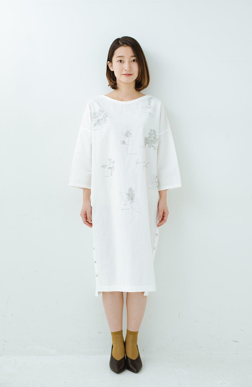 haco! てとひとて Miho Umezawa ガーデンハーブドルマンチュニック <オフホワイト>の商品写真11