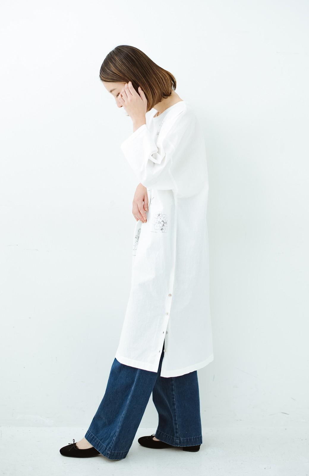 haco! てとひとて Miho Umezawa ガーデンハーブドルマンチュニック <オフホワイト>の商品写真13