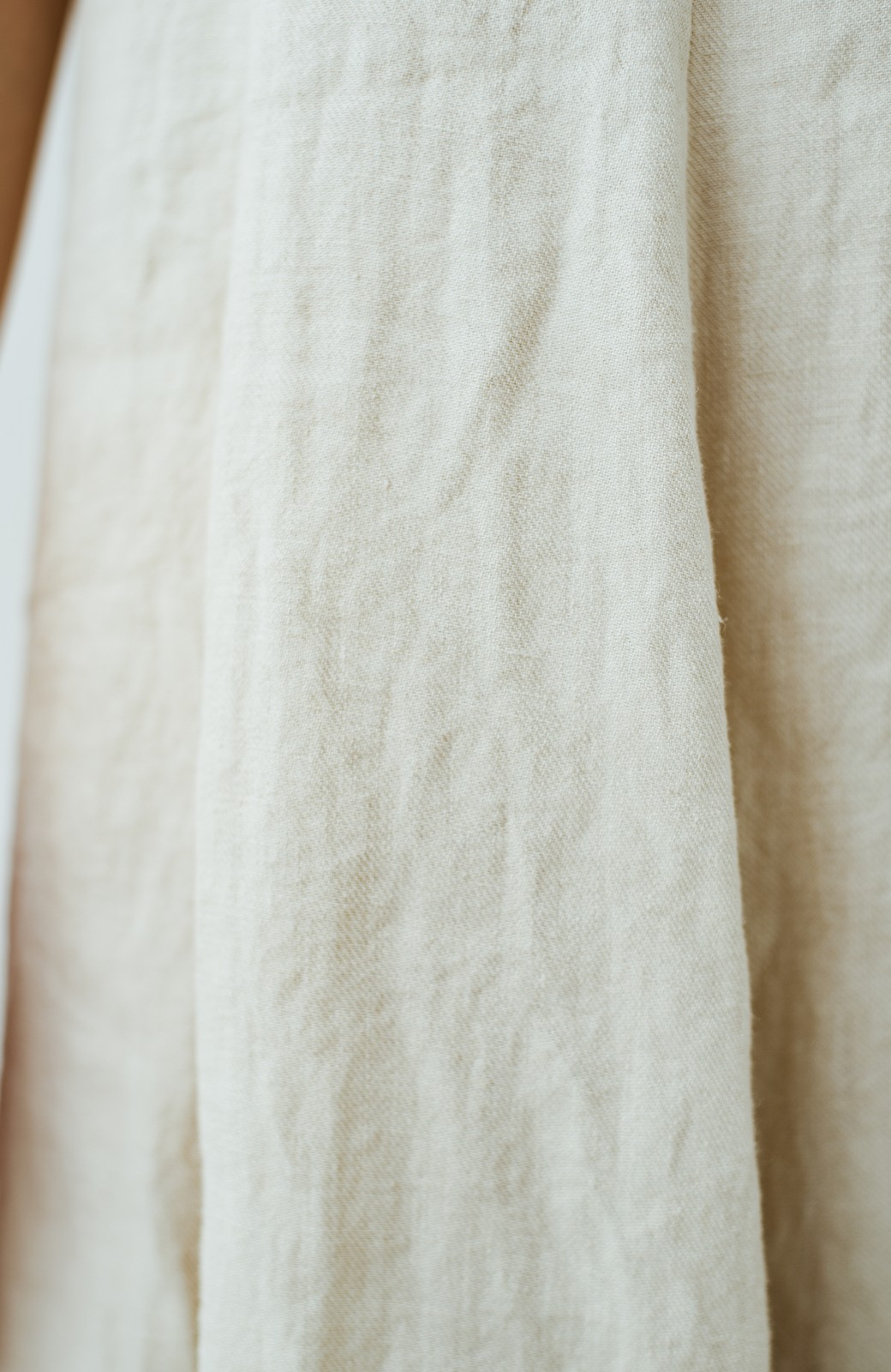 haco! てとひとて Miho Umezawa TWILL LINEN アシンメトリードレス <ライトベージュ>の商品写真5