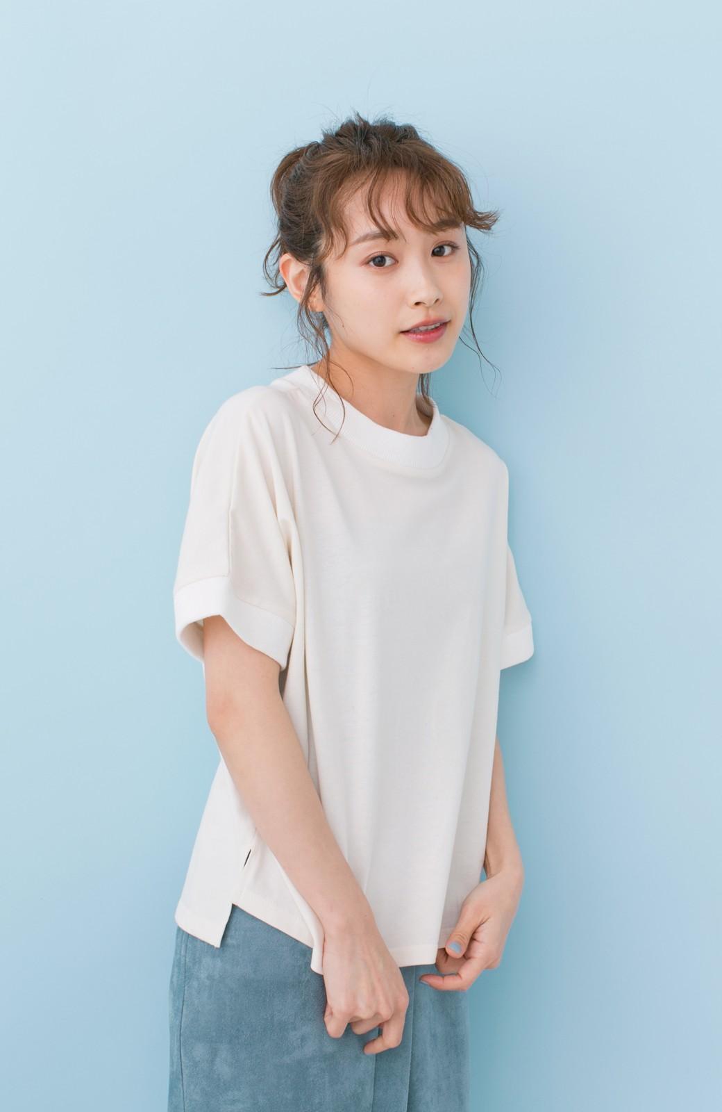 haco! PBP 高橋愛さんコラボ 手描きハート刺しゅうがかわいいコットンリンガーTシャツ <アイボリー>の商品写真1
