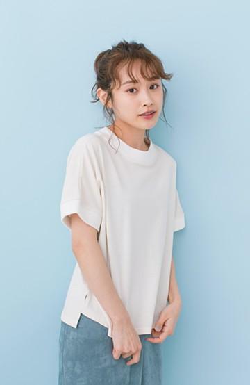 haco! PBP 高橋愛さんコラボ 手描きハート刺しゅうがかわいいコットンリンガーTシャツ <アイボリー>の商品写真