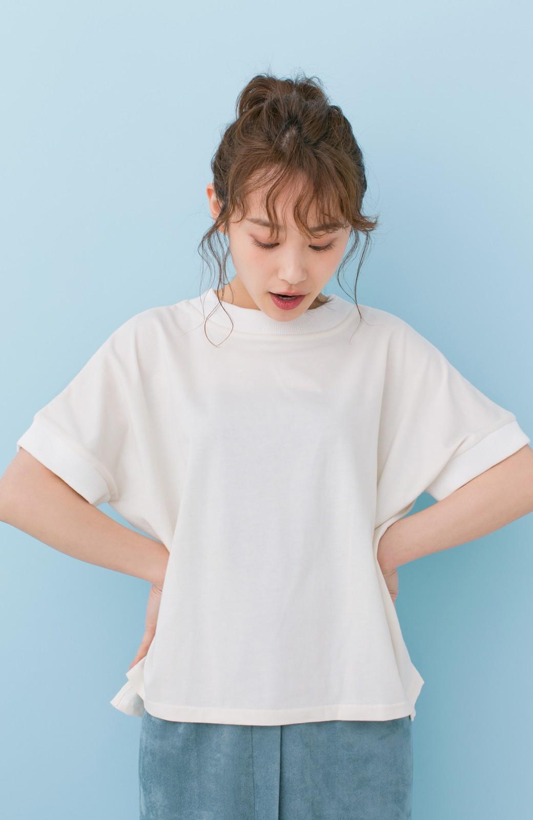 haco! PBP 高橋愛さんコラボ 手描きハート刺しゅうがかわいいコットンリンガーTシャツ <アイボリー>の商品写真8