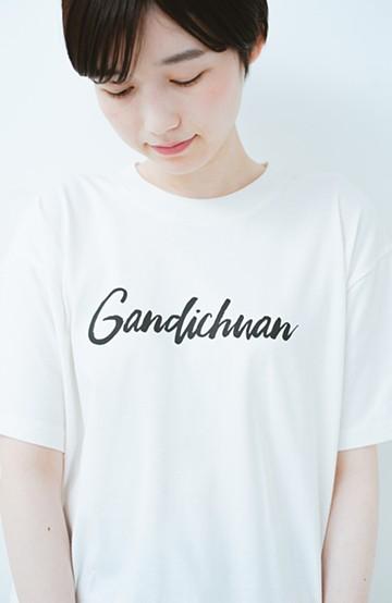 haco! PBP オーガニックコットンロゴTシャツ<NAMASTE!INDIA chaar> <ホワイト>の商品写真