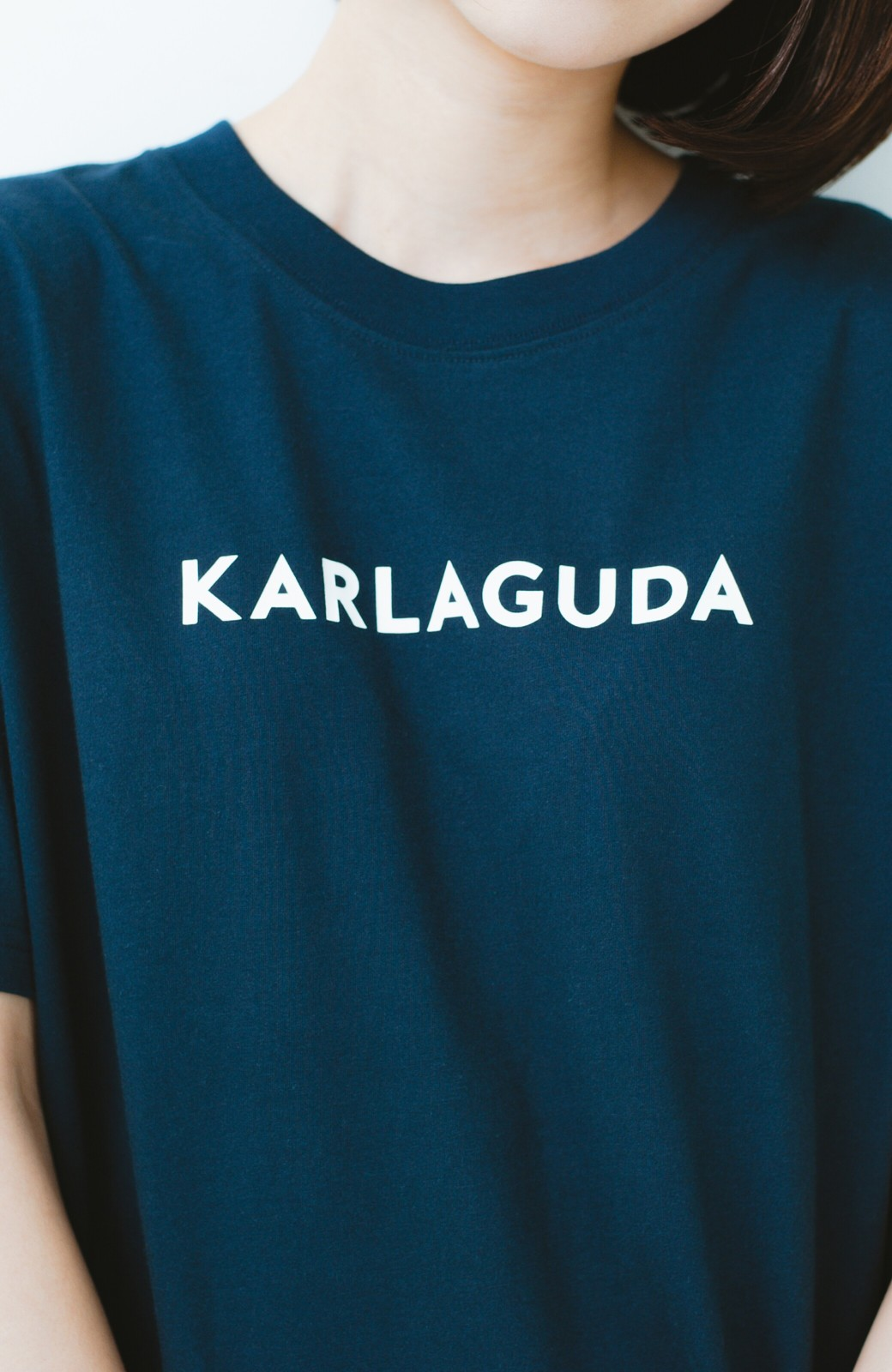 haco! PBP オーガニックコットンロゴTシャツ<NAMASTE!INDIA chaar> <ネイビー>の商品写真3