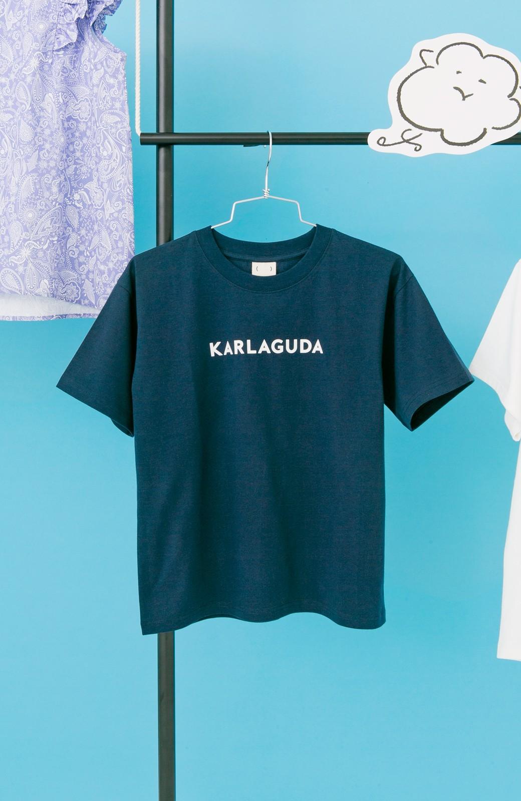 haco! PBP オーガニックコットンロゴTシャツ<NAMASTE!INDIA chaar> <ネイビー>の商品写真2
