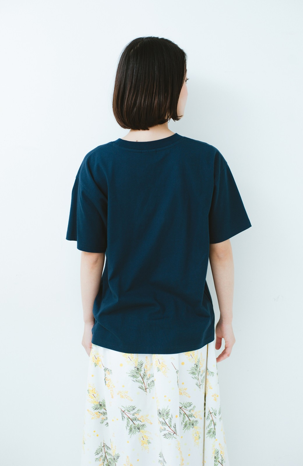 haco! PBP オーガニックコットンロゴTシャツ<NAMASTE!INDIA chaar> <ネイビー>の商品写真9