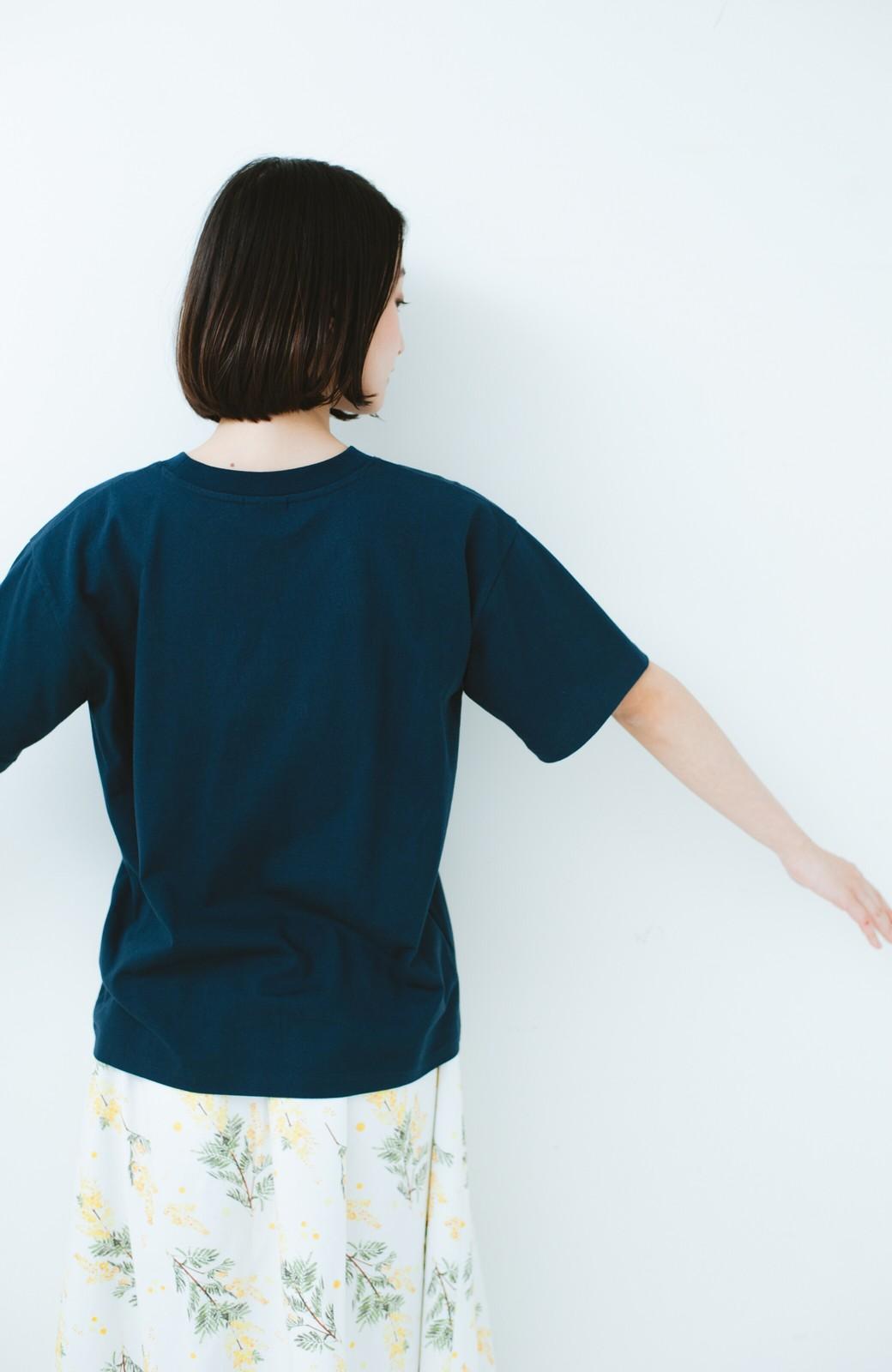 haco! PBP オーガニックコットンロゴTシャツ<NAMASTE!INDIA chaar> <ネイビー>の商品写真10