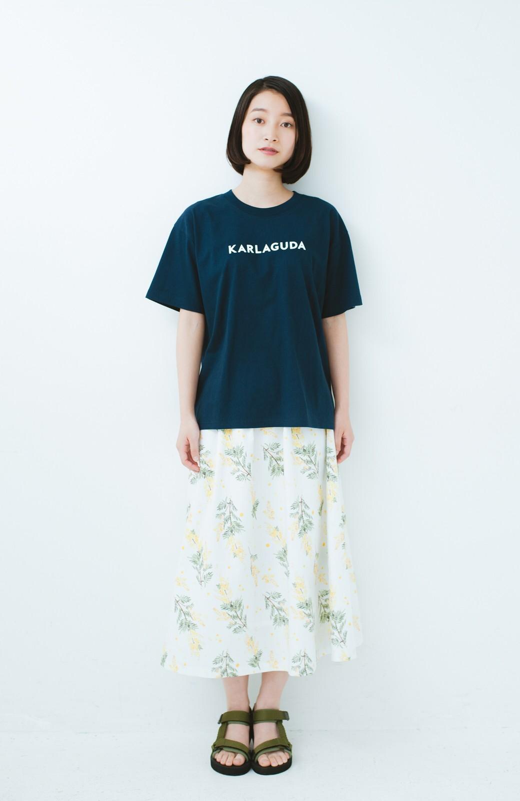 haco! PBP オーガニックコットンロゴTシャツ<NAMASTE!INDIA chaar> <ネイビー>の商品写真4
