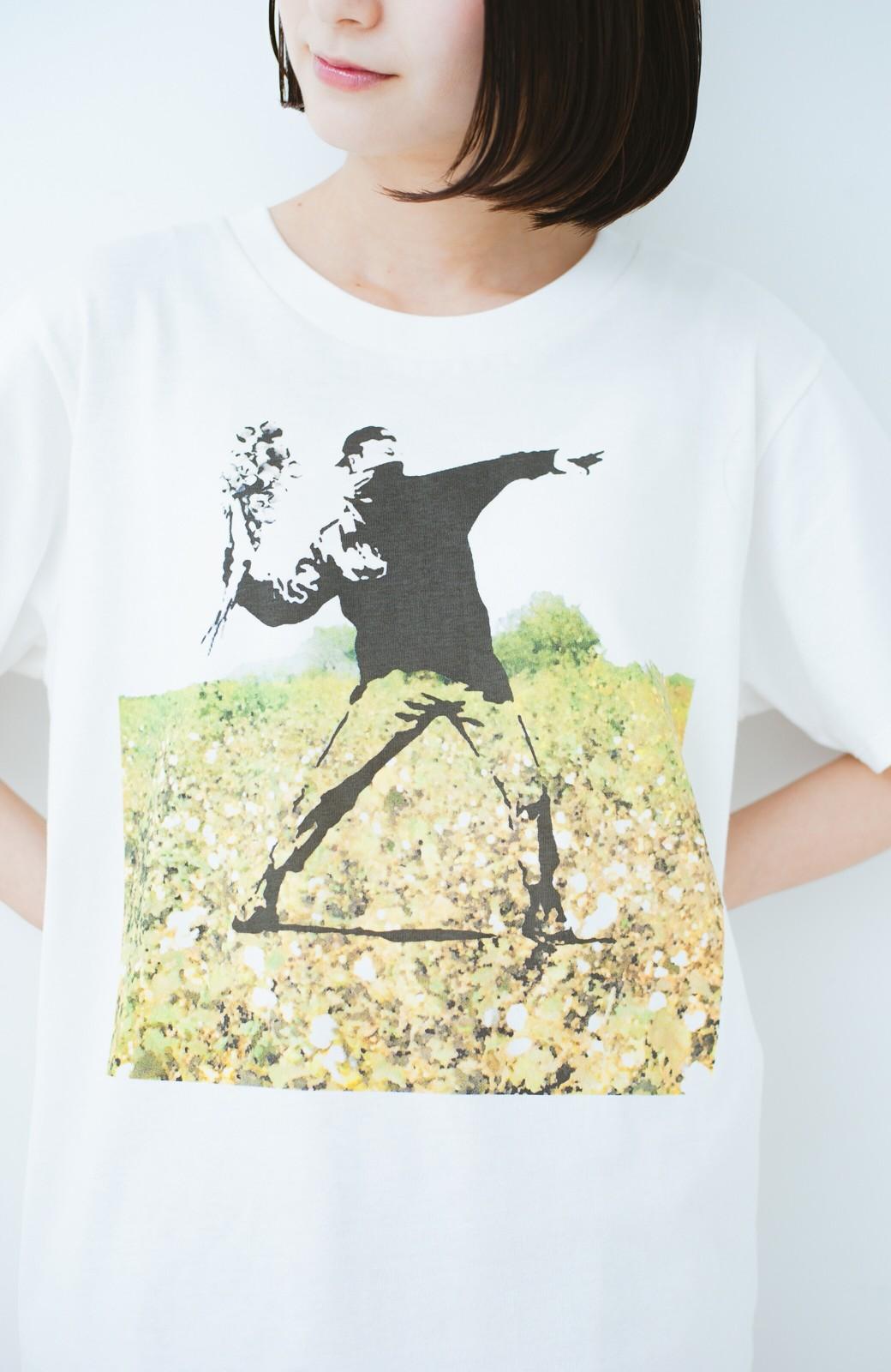 haco! PBP コットン畑のストリートアートTシャツ <ホワイト>の商品写真2
