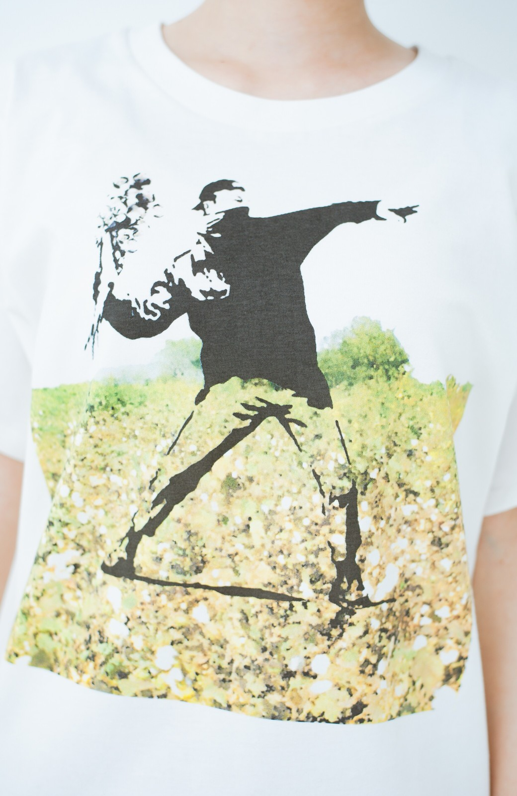 haco! PBP コットン畑のストリートアートTシャツ <ホワイト>の商品写真3