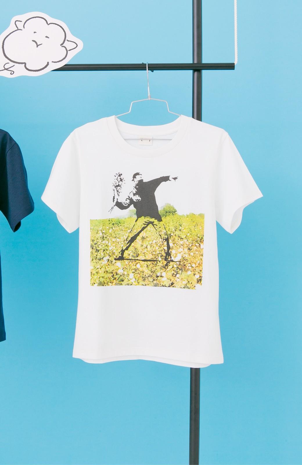 haco! PBP コットン畑のストリートアートTシャツ <ホワイト>の商品写真1