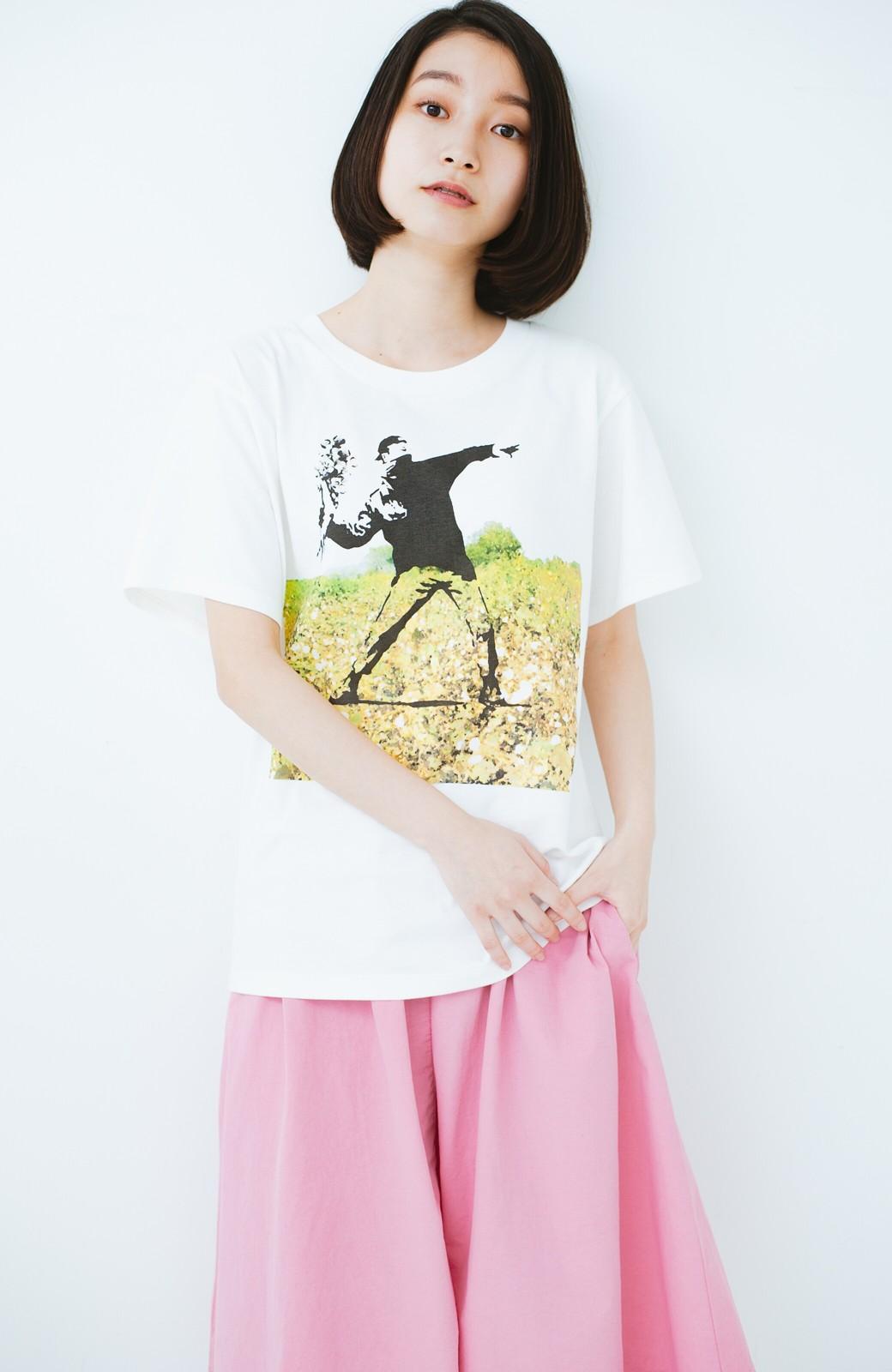 haco! PBP コットン畑のストリートアートTシャツ <ホワイト>の商品写真6