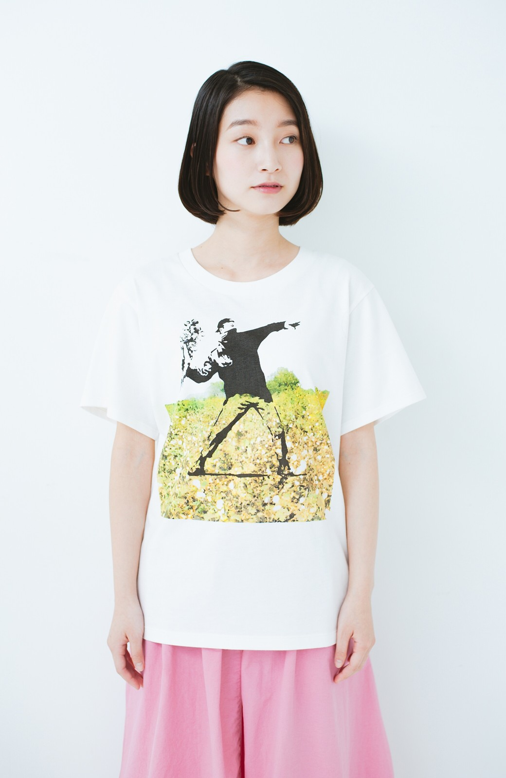 haco! PBP コットン畑のストリートアートTシャツ <ホワイト>の商品写真7