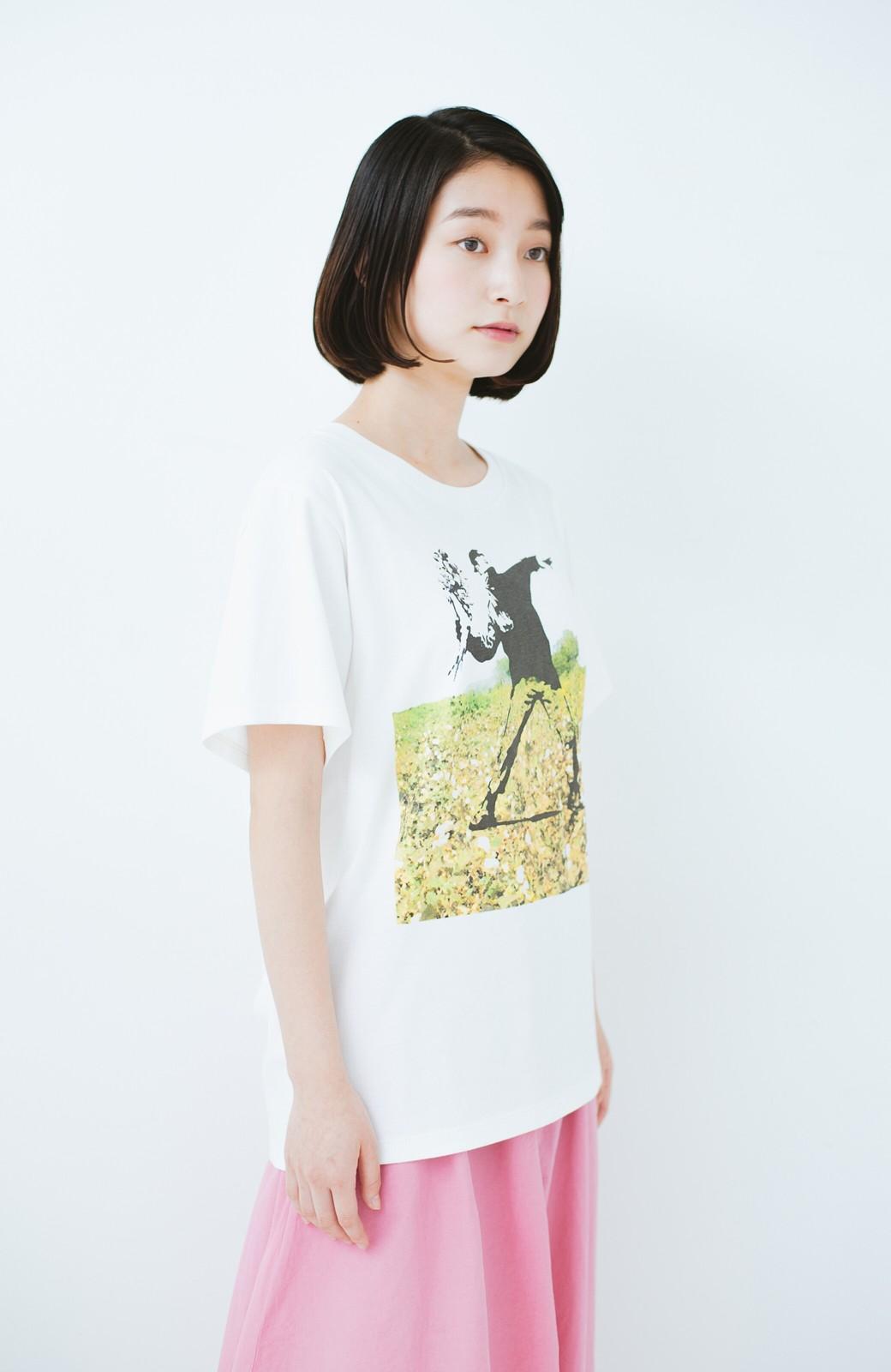 haco! PBP コットン畑のストリートアートTシャツ <ホワイト>の商品写真8