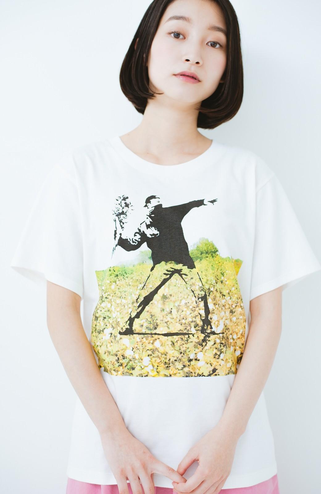 haco! PBP コットン畑のストリートアートTシャツ <ホワイト>の商品写真11