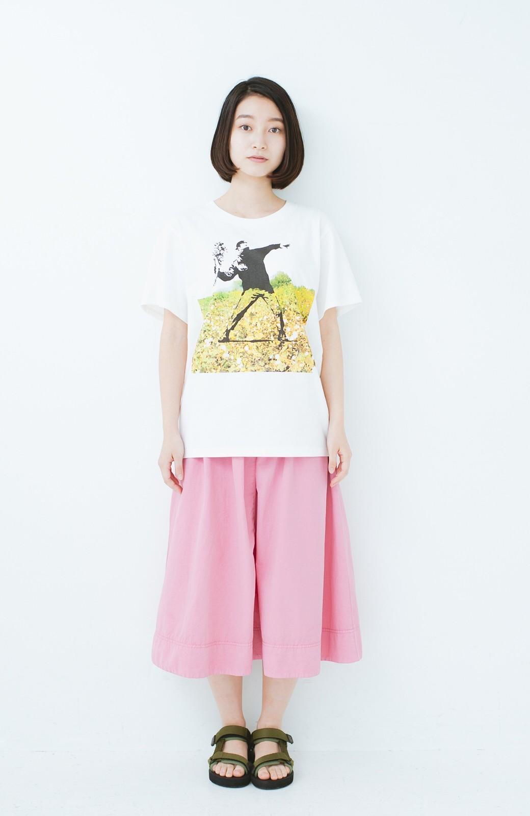 haco! PBP コットン畑のストリートアートTシャツ <ホワイト>の商品写真4