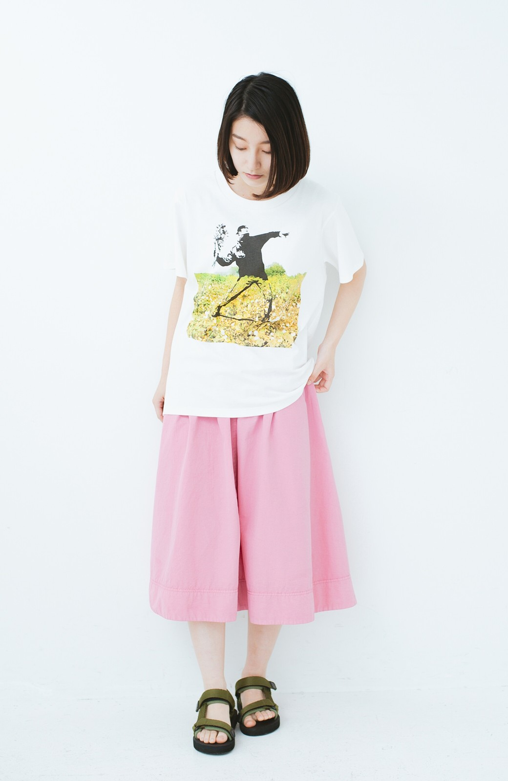 haco! PBP コットン畑のストリートアートTシャツ <ホワイト>の商品写真5
