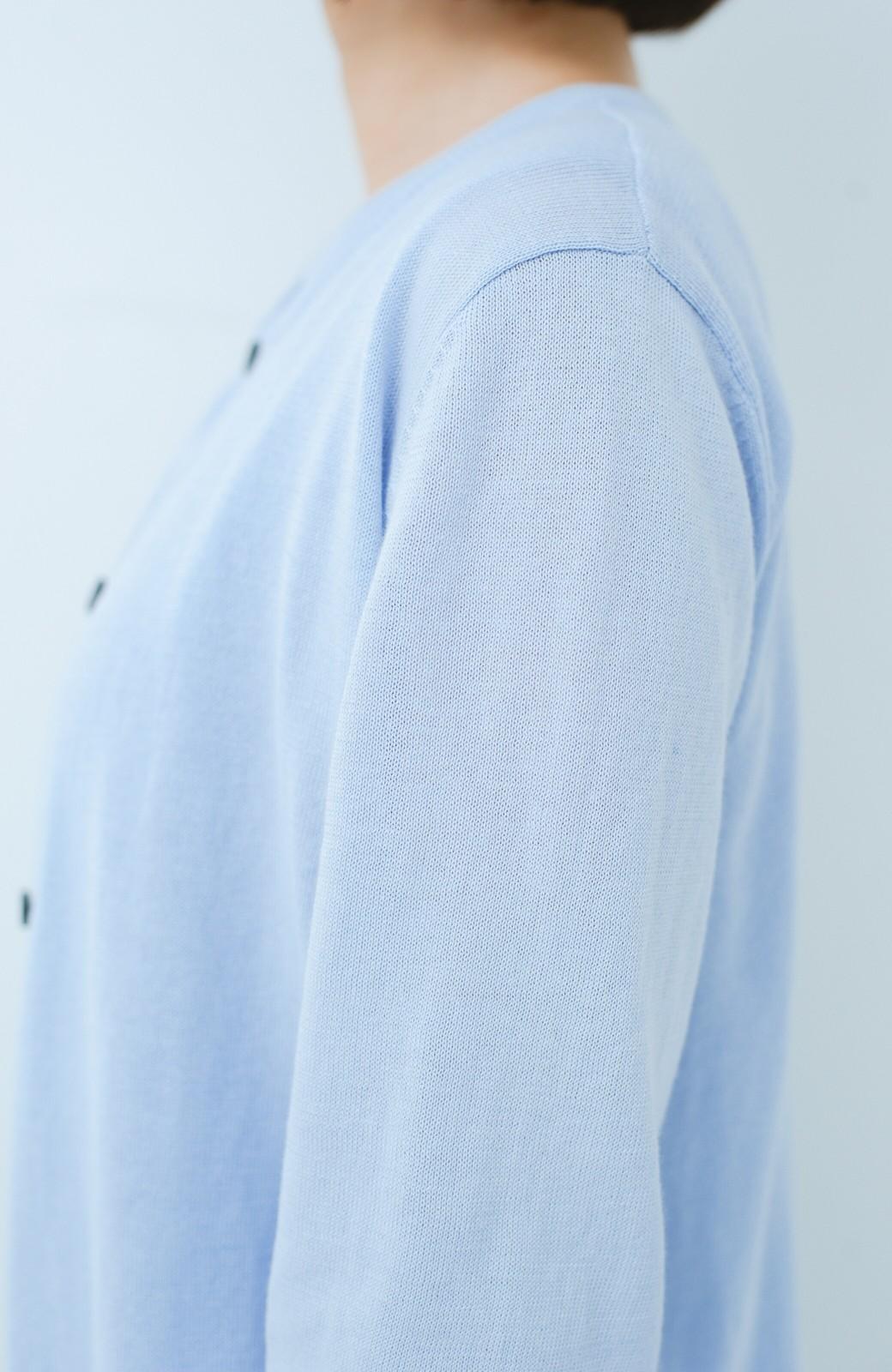 haco! PBP 使いやすさと美しさにこだわりたい人のためのハイゲージアンサンブルニット byMAKORI <ラベンダー>の商品写真4