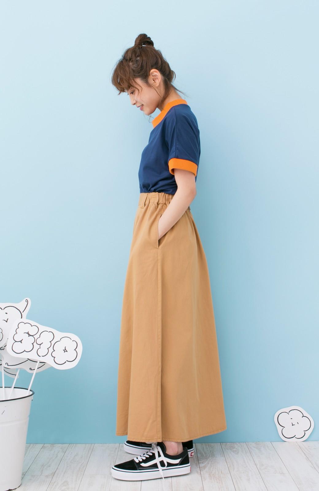 haco! PBP 高橋愛さんコラボ 手描きハート刺しゅうがかわいいコットンリンガーTシャツ <ネイビー>の商品写真10